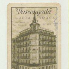 Coleccionismo Calendarios: CALENDARIO FOURNIER. SEGUROS VASCONGADA 1958. Lote 151671969