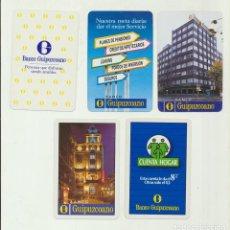 Coleccionismo Calendarios: CALENDARIO FOURNIER. BANCO GUIPUZCOANO 1986,1989,1990,1992 Y 1994. Lote 151672237