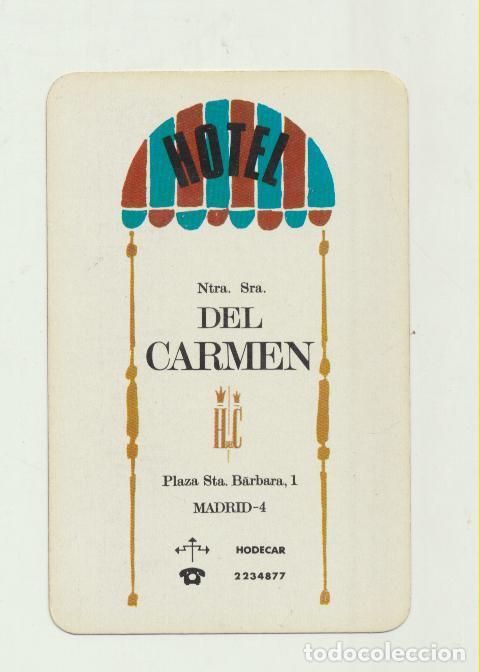 CALENDARIO FOURNIER. HOTEL NTRA. SRA. DEL CARMEN 1966 (Coleccionismo - Calendarios)