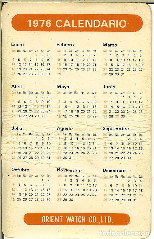 Calendario Julio 1976.Calendario Publicitario 1976 Orient