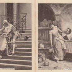 Coleccionismo Calendarios: BELLO CALENDARIO ESCENA GALANTE FÁBRICA CHOCOLATES FIDEOS PASTAS ROMÁN BONO GUARNER ALICANTE 1864 AA. Lote 152125962