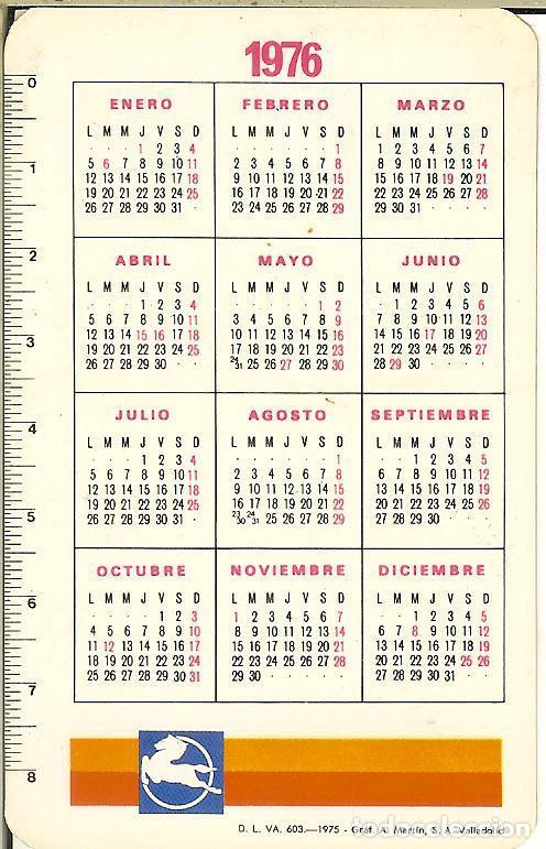 Calendario Julio 1976.Calendario Publicitario 1976 Pegaso