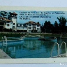 Coleccionismo Calendarios: CALENDARIO CAJA DE AHORROS MUNICIPAL DE BILBAO COLONIA PEDERNALES AÑO 1967. Lote 152192766