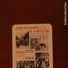 Coleccionismo Calendarios: CALENDARIO FOURNIER. DIARIO DE NAVARRA. AÑO 1968. PAMPLONA.. Lote 152198862