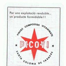 Coleccionismo Calendarios: CALENDARIO PINSOS PICOVI AÑO 1969 . Lote 152295066