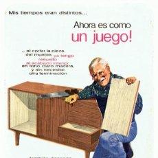 Coleccionismo Calendarios: CALENDARIO GAMA MUEBLE TAFISA AÑO 1969. Lote 152295126