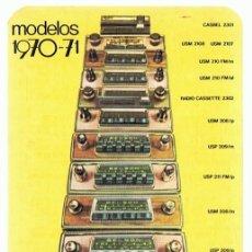 Coleccionismo Calendarios: CALENDARIO AUTO - RADIO BELSON AÑO 1971 . Lote 152295214