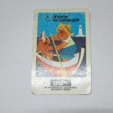 Coleccionismo Calendarios: CALENDARIO DE BOLSILLO FOURNIER. CAJA DE AHORROS ZARAGOZA ARAGON Y RIOJA 1982. TDKP14. Lote 152369762