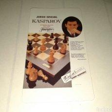 Coleccionismo Calendarios: CALENDARIO DE FOURNIER, JUEGO OFICIAL KASPAROV. CALENDARIO PERPETUO. Lote 152370273