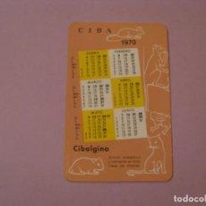 Coleccionismo Calendarios: CALENDARIO CIBA, CIBALGINA. 1969 1970.. Lote 152484018