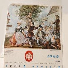 Coleccionismo Calendarios: HOJA CALENDARIO DE PARED DE CERVEZA EL AGUILA 1968. Lote 152487038