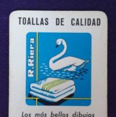 Coleccionismo Calendarios: CALENDARIO FOURNIER. R.RIERA TOALLAS. 1962. Lote 152644446