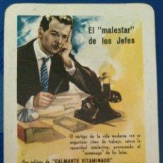Coleccionismo Calendarios: AÑO 1962. CALENDARIO FOURNIER DE CALMANTE VITAMINADO.. Lote 152840138