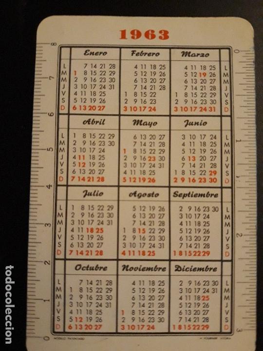 Coleccionismo Calendarios: 1 CALENDARIO H. FOURNIER DE ** BANCO DE BILBAO ** 1963 - Foto 2 - 153094090