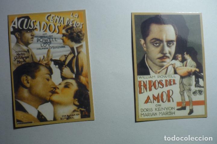 LOTE CALENDARIOS CINE PELICULAS DE WILLIAM POWELL 1947 (Coleccionismo - Calendarios)