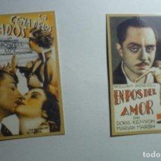 Coleccionismo Calendarios: LOTE CALENDARIOS CINE PELICULAS DE WILLIAM POWELL 1947. Lote 153105974