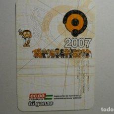 Coleccionismo Calendarios: CALENDARIO SINDICATO CC.OO. ANDALUCIA 2007. Lote 153148826