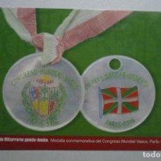 Coleccionismo Calendarios: CALENDARIO VASCO -MEDALLA CONGRESO VASCO-PARIS 1956 2006. Lote 153151342