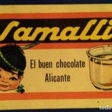 Coleccionismo Calendarios: AÑO 1965. CALENDARIO FOURNIER DE CHOCOLATE SAMALLI.. Lote 153151822