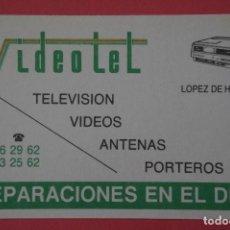 Coleccionismo Calendarios: CALENDARIO DE BOLSILLO CON PUBLICIDAD VIDEOTEL AÑO 1989 LOTE 19 MIRAR FOTOS. Lote 153705030