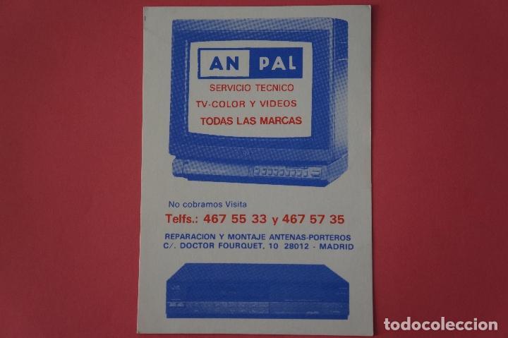 CALENDARIO DE BOLSILLO CON PUBLICIDAD AN PAL SERVICIO TECNICO AÑO 1989 LOTE 19 MIRAR FOTOS (Coleccionismo - Calendarios)