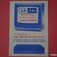 Coleccionismo Calendarios: CALENDARIO DE BOLSILLO CON PUBLICIDAD AN PAL SERVICIO TECNICO AÑO 1989 LOTE 19 MIRAR FOTOS. Lote 153705766