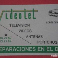 Coleccionismo Calendarios: CALENDARIO DE BOLSILLO CON PUBLICIDAD VIDEOTEL AÑO 1989 LOTE 19 MIRAR FOTOS. Lote 153706018