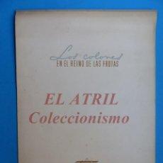 Coleccionismo Calendarios: CALENDARIO INDUSTRIAS PINTURAS TITAN TITANLUX, LOS COLONES EN EL REINO DE LAS FRUTAS - AÑO 1958. Lote 153706418