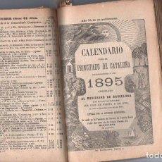 Coleccionismo Calendarios: DOCE CALENDARIOS PARA EL PRINCIPADO DE CATALUÑA 1890 A 1901. Lote 153825286