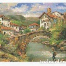 Coleccionismo Calendarios: CALENDARIO 1999. PAISAJE PUEBLO, MONTAÑAS, RIO, PUENTE Y PESCADOR.. Lote 153896126