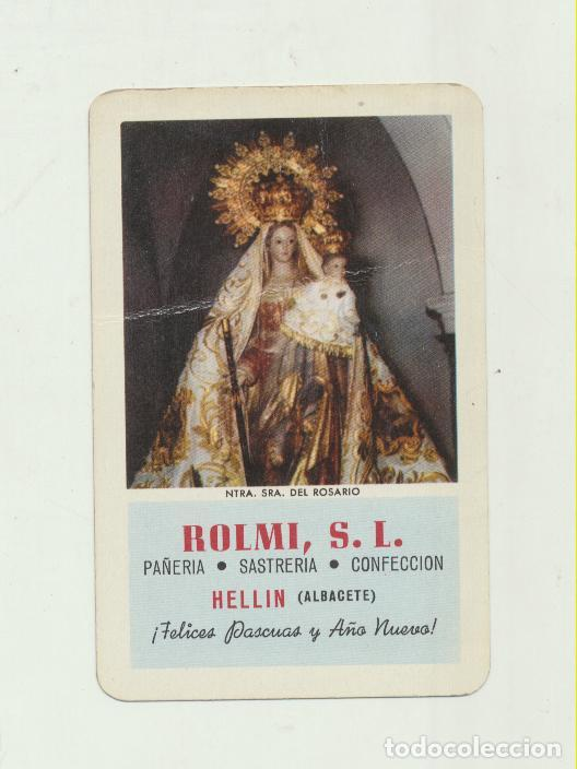 CALENDARIO FOURNIER. ROLMI. NTRA. SRA. DEL ROSARIO. HELLÍN 1960 (Coleccionismo - Calendarios)
