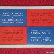 Coleccionismo Calendarios: ANTIGUO CALENDARIO DE BOLSILLO AÑO 1956 FRANCIA FRANCE CALENDAR BORDEAUX LIQUOREUX LA COINCHÉE VER . Lote 154124698