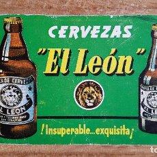 Coleccionismo Calendarios: CALENDARIO NO FOURNIER - CERVEZAS EL LEON AÑO 1967 - VER FOTO ADICIONAL. Lote 154235482
