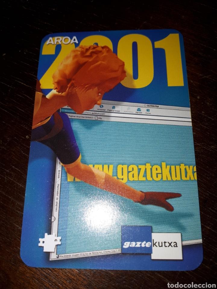 CALENDARIO DE BOLSILLO PUBLICITARIO BANCO CAJA KUTXA DE SAN SEBASTIÁN 2001 POSIBLE FOURNIER (Coleccionismo - Calendarios)