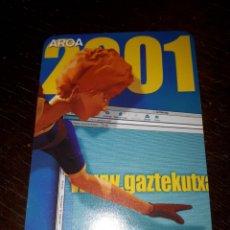 Coleccionismo Calendarios: CALENDARIO DE BOLSILLO PUBLICITARIO BANCO CAJA KUTXA DE SAN SEBASTIÁN 2001 POSIBLE FOURNIER. Lote 154553594