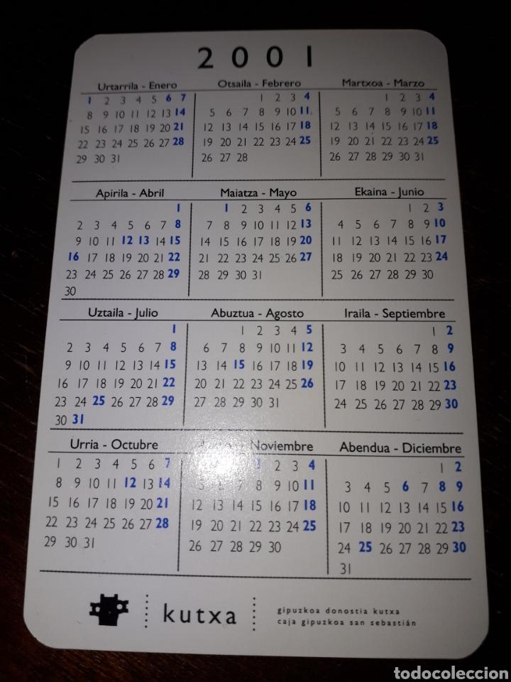 Coleccionismo Calendarios: Calendario de bolsillo publicitario banco caja Kutxa de San Sebastián 2001 posible fournier - Foto 2 - 154553594