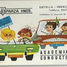Coleccionismo Calendarios: CALENDARIO FOURNIER. ESPARZA HERMANOS. ACADEMÍA DE CONDUCTORES. PAMPLONA. AÑO 1969. Lote 154851234