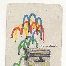 Coleccionismo Calendarios: CALENDARIO FOURNIER HISPANO OLIVETTI. Lote 154858438