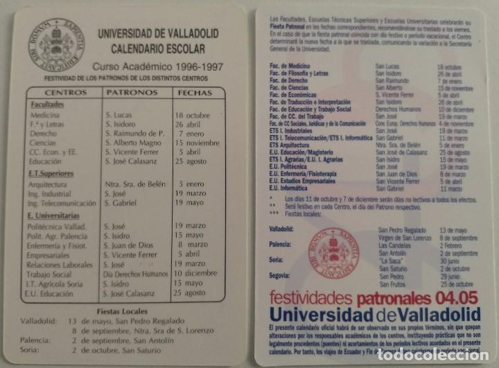 Calendario Timing.Lote 2 Calendarios Academicos Universidad De Valladolid