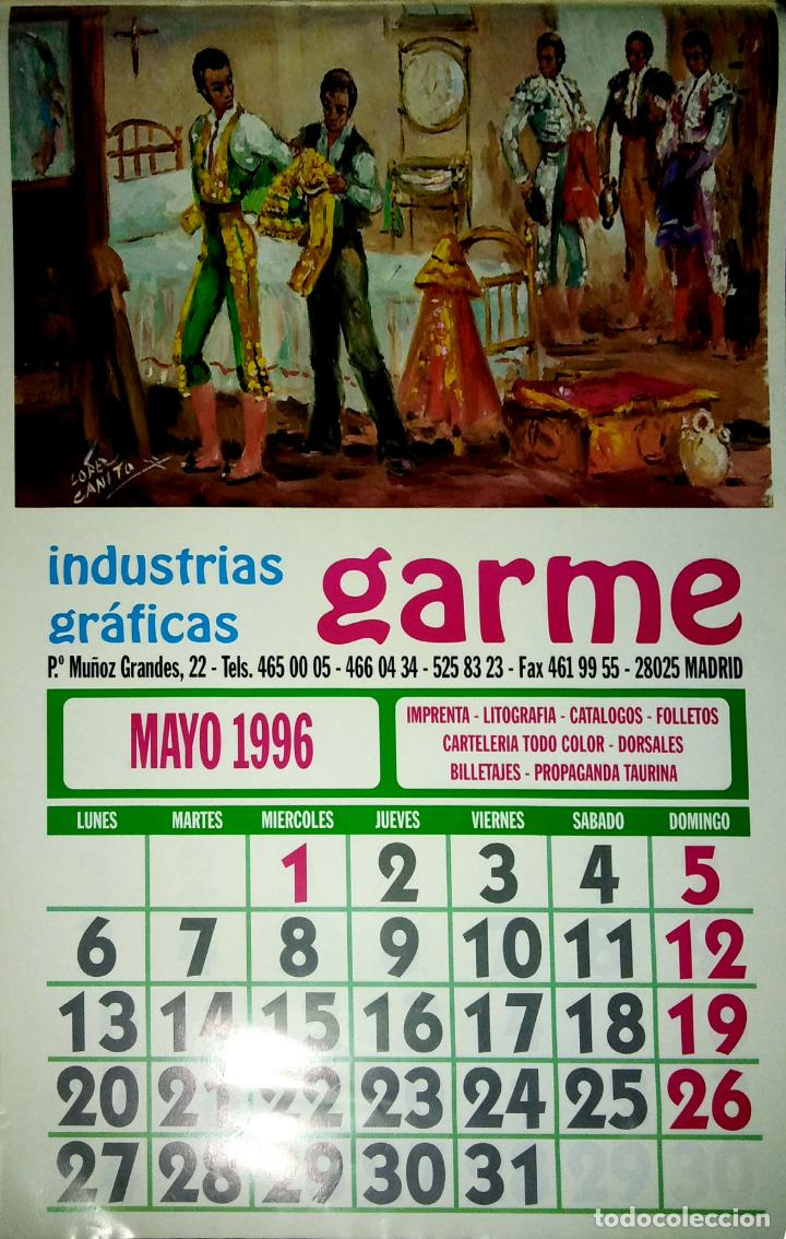 Coleccionismo Calendarios: MADRID.CALENDARIO.INDUSTRIAS GRAFICAS GARME. FERIAS 1996. - Foto 6 - 154865670
