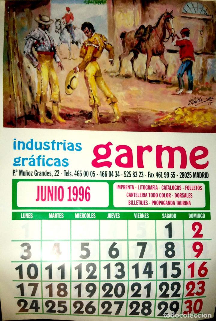 Coleccionismo Calendarios: MADRID.CALENDARIO.INDUSTRIAS GRAFICAS GARME. FERIAS 1996. - Foto 7 - 154865670