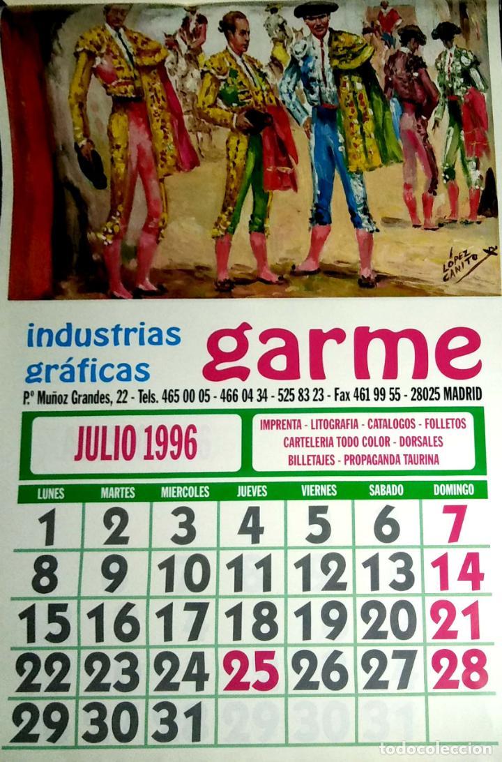 Coleccionismo Calendarios: MADRID.CALENDARIO.INDUSTRIAS GRAFICAS GARME. FERIAS 1996. - Foto 8 - 154865670
