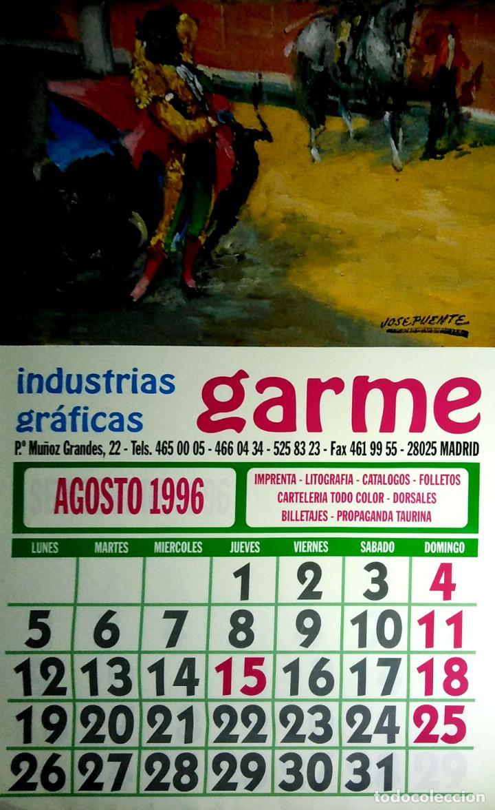 Coleccionismo Calendarios: MADRID.CALENDARIO.INDUSTRIAS GRAFICAS GARME. FERIAS 1996. - Foto 9 - 154865670