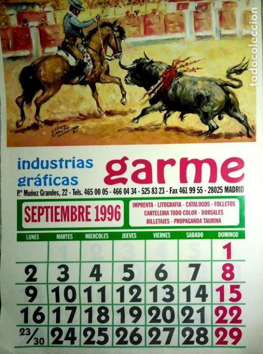 Coleccionismo Calendarios: MADRID.CALENDARIO.INDUSTRIAS GRAFICAS GARME. FERIAS 1996. - Foto 10 - 154865670