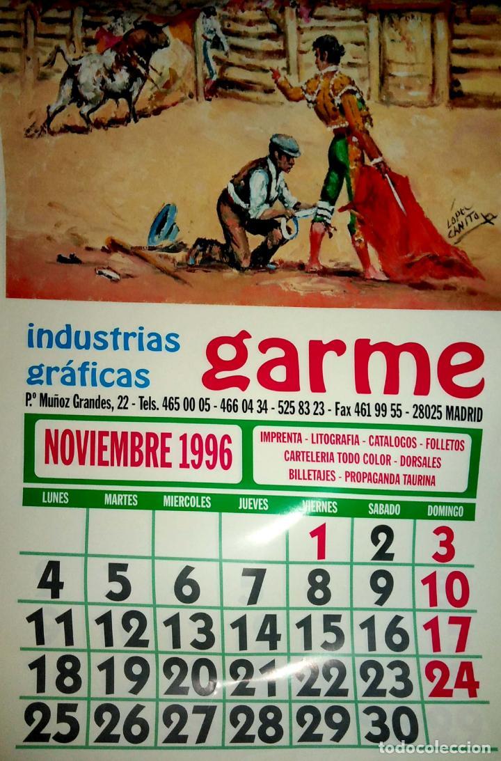 Coleccionismo Calendarios: MADRID.CALENDARIO.INDUSTRIAS GRAFICAS GARME. FERIAS 1996. - Foto 12 - 154865670