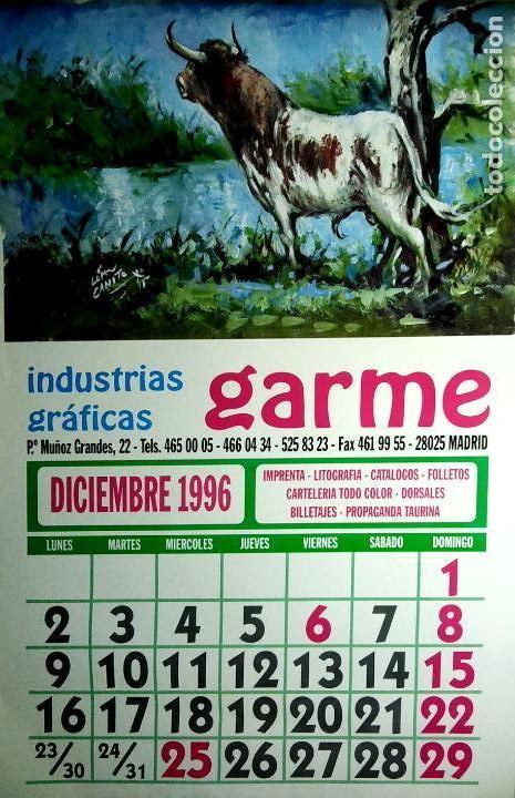 Coleccionismo Calendarios: MADRID.CALENDARIO.INDUSTRIAS GRAFICAS GARME. FERIAS 1996. - Foto 13 - 154865670