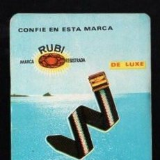 Coleccionismo Calendarios: CALENDARIO 1966. RUBI. CORREA REVERSIBLE NYLON. BARCELONA.. Lote 155677046
