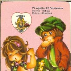 Coleccionismo Calendarios: CALENDARIO DE SERIE - 1979 - REG EMP EDIT Nº 211 - HORÓSCOPO VIRGO - PAREDES DE NAVA. Lote 155688638