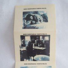 Coleccionismo Calendarios: CALENDARIO DE BOLSILLO DE LA ONCE DESPLEGABLE 1990. Lote 155705498