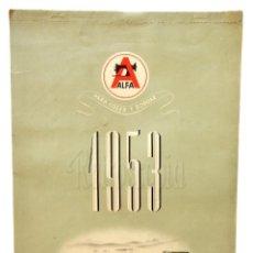 Coleccionismo Calendarios: CALENDARIO PUBLICIDAD DE MAQUINAS DE COSER ALFA AÑO 1953. Lote 155836550